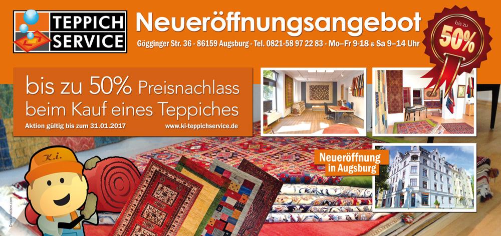 Teppichverkauf: 50% Rabatt
